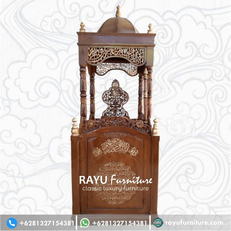 Jual Mimbar Masjid Ukir Jati Jepara