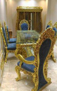 Set Meja Makan Ukir Luxury Jepara