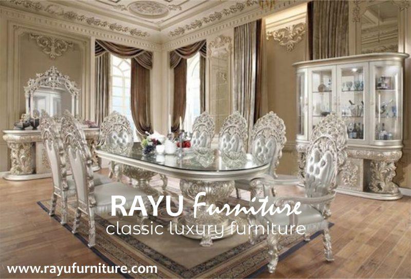 Set Meja Makan Klasik Eropa