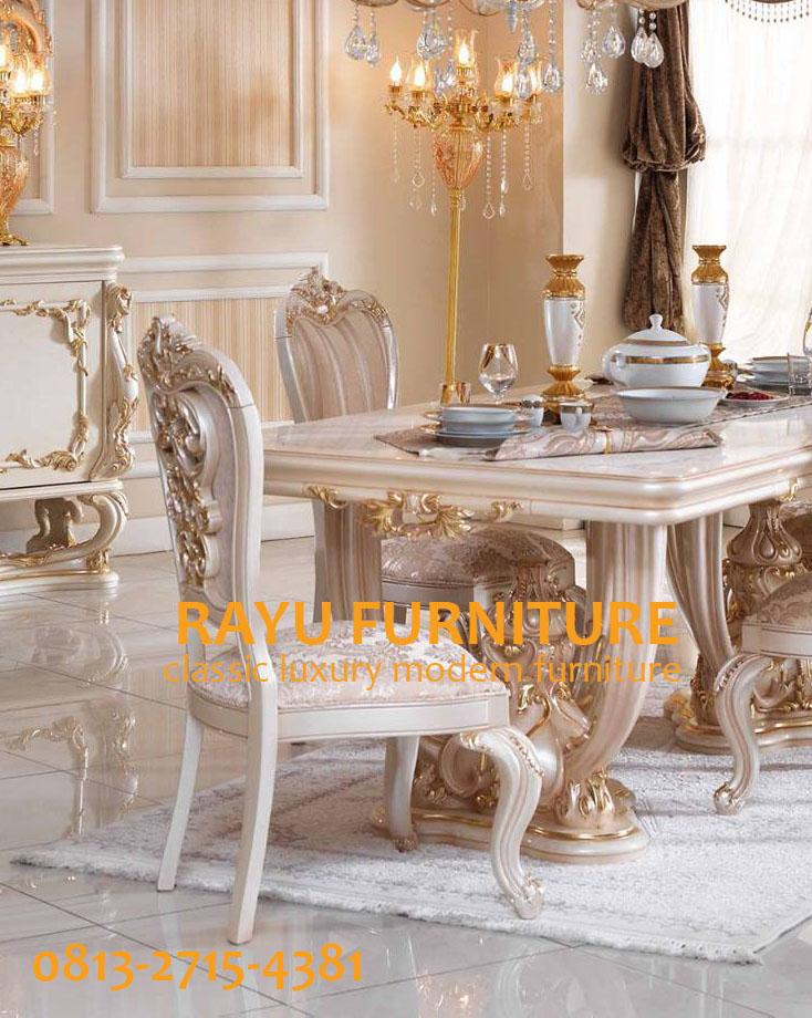 Meja Makan Klasik Mewah Eropa