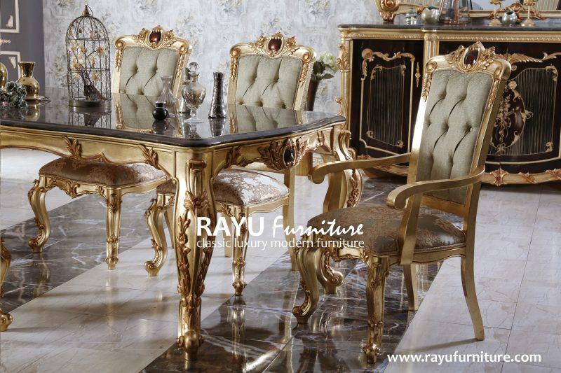 Set Meja Makan Jepara Klasik di