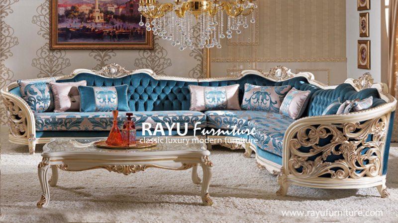 Sofa Sudut Ukir